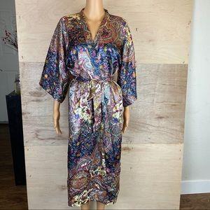 Vintage California Dynasty Floral Kimono Robe